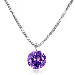 Artificial Gemstone Pendant Necklace