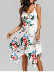 Floral Handerchief Dress - WHITE L