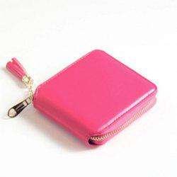 Tassel Zipper Around Small Wallet -