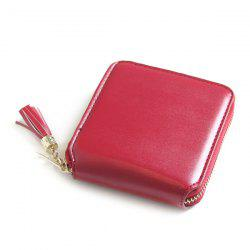 Tassel Zipper Around Small Wallet