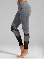 High Rise Mesh Panel Fitness Leggings