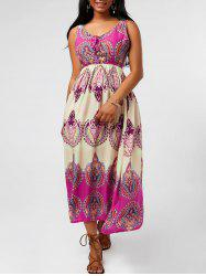 Printed Tea Length Dress