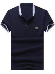 Two Tone Faux Pocket Polo Shirt