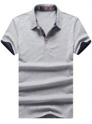 Half Button Short Sleeve Golf Shirt