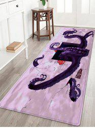 3D Octopus Pattern Anti-skid Water Absorption Area Rug