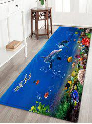 Ocean Dolphin Pattern Anti-skid Water Absorption Area Rug