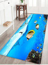 Sea Mew Fish Pattern Anti-skid Water Absorption Area Rug