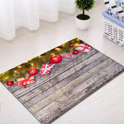 Wood Christmas Gift Pattern Anti-skid Water Absorption Area Rug