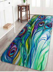 Skidproof Peacock Feather Bath Rug