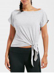Active  Front Tie Cropped T-shirt -