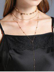 Chain Star Collarbone Necklace Set