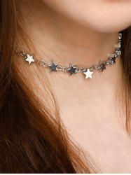 Copper Alloy Collarbone Star Necklace