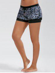Tie Dye Drawstring Double Layer Sporty Shorts