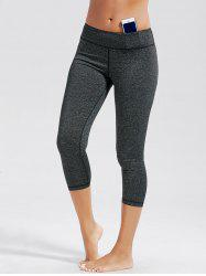 High Rise Capri Workout Leggings with Pockets