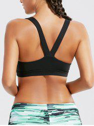 Racer Back Padded Workout Bra Top - BLACK