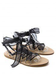 Tie Up Metal Ring Sandals