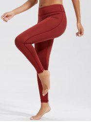 Simple High Waist Fitness Leggings with Pockets