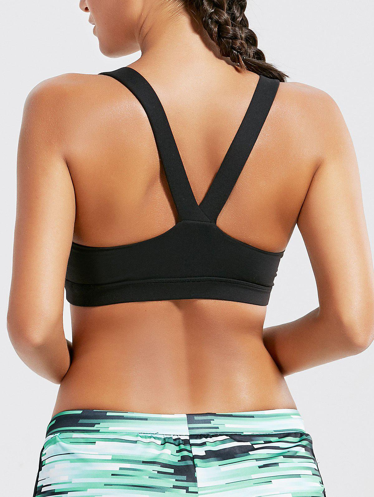 New Racer Back Padded Workout Bra Top
