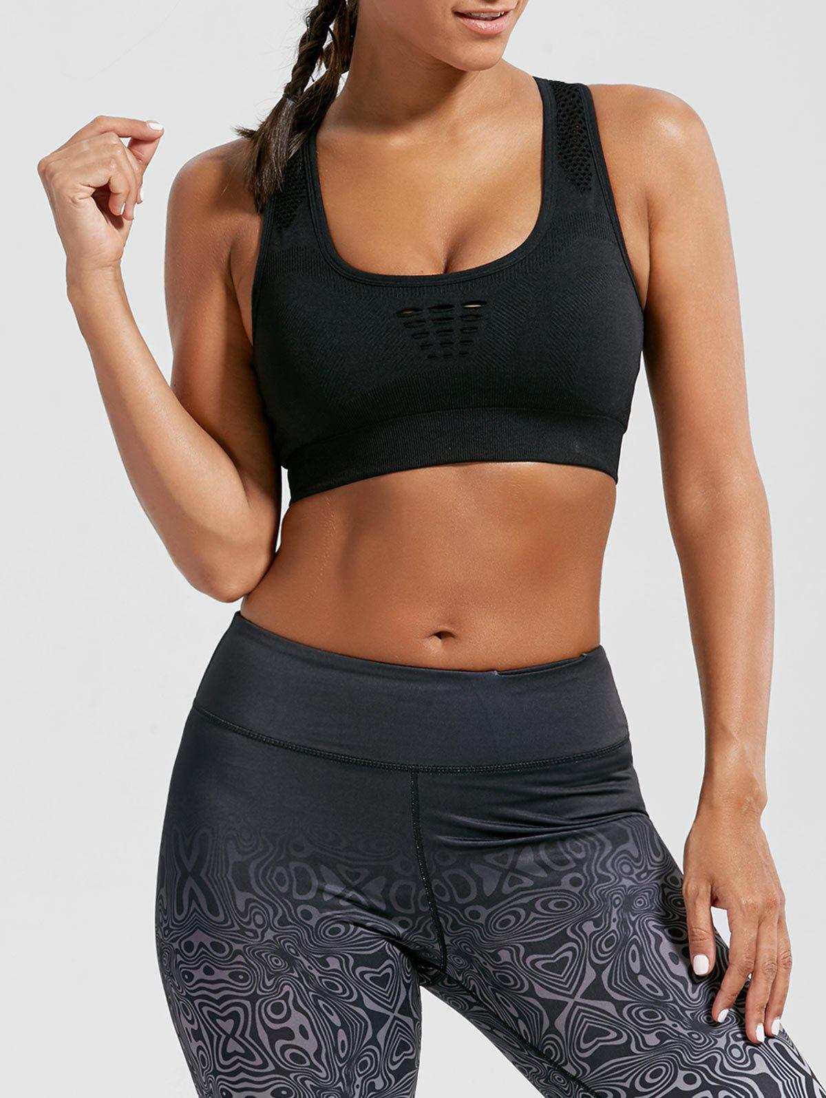 Unique Breathable Openwork Sports Padded Bra