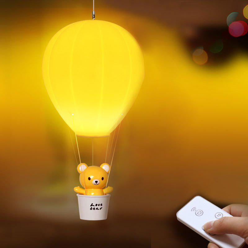 Yellow hot air balloon usb charging remote control night light - Remote control night light ...