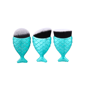 3Pcs Ombre Wide Mermaid Handle Makeup Brushes Set