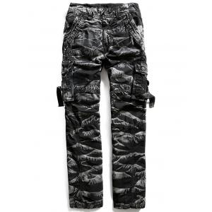 Zip Fly Multi Pockets Cargo Pants