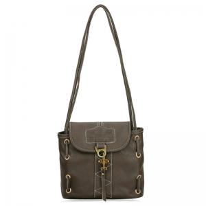 PU Leather Metal Detail Shoulder Bag