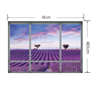 Window Lavender Scenic Wall Sticker For Living Room - PURPLE 48.5*68CM