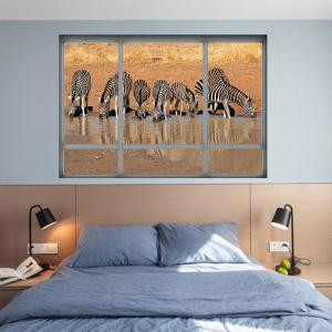 Removable Zebra Animal Decorative Wall Sticker