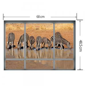Removable Zebra Animal Decorative Wall Sticker -