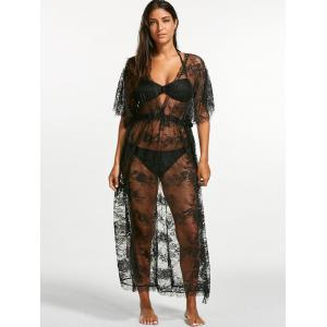 Sheer Lace Maxi Cover Up Dress for Beach -