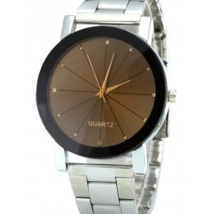 Rhinestone Steel Strap Analog Quartz Watch -