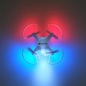 Phone Control Bluetooth Night Light RC Mini Quadcopter - White