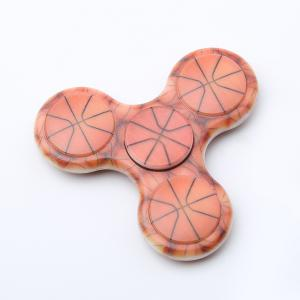 Plastic Tri-bar Basketball Patterned Fidget Spinner Fiddle Toy -