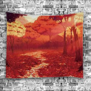Wall Hanging Nature Forest Autumn Road Foliage Tapestry - Eau Rouge Largeur51pouces*Longeur59pouces