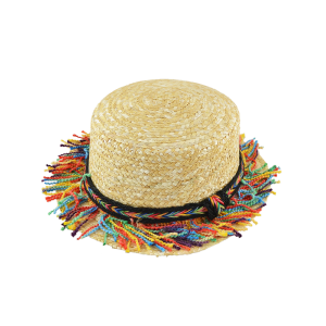 Braid Rainbow Tassel Beach Straw Hat