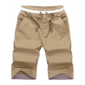 Drawstring Waist Pocket Shorts