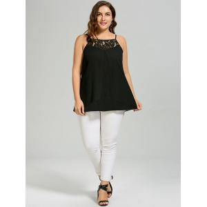 Plus Size Lace Insert Camisole Top -