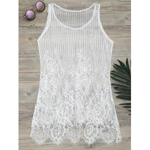 See-Through Lace Cover Up Tank Top -