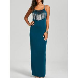 Fringed Slimming Maxi Cami Dress