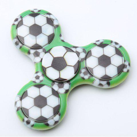 Outfit Fiddle Toy Plastic Tri-bar Soccer Patterned Fidget Spinner