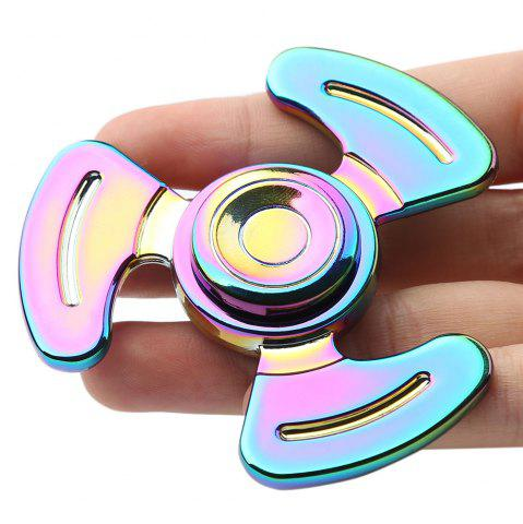 Anti-stress Toy Tri-bar Feet Fidget Metal Spinner Multicolore