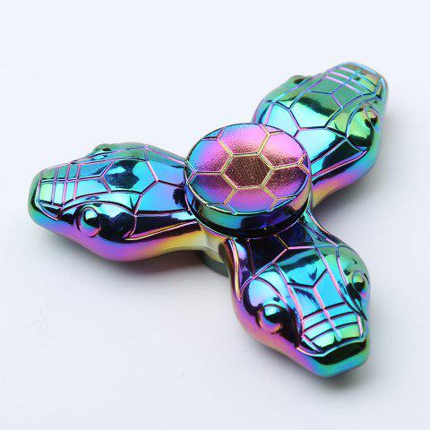 Colorful Snake Tri-bar Fidget Metal Spinner Fiddle Toys Multicolore