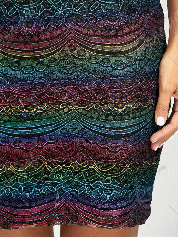 Outfits Graphic Lace Tight Skirt - XL COLORMIX Mobile