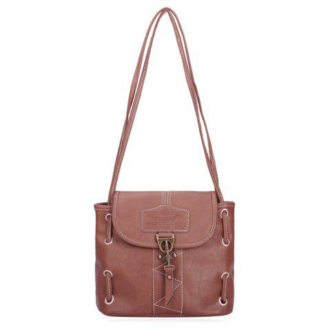 Outfits PU Leather Metal Detail Shoulder Bag