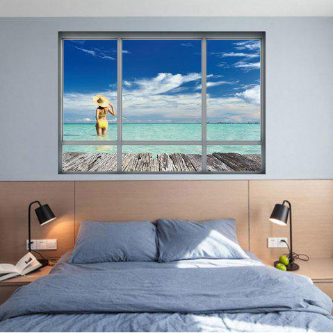Cheap Beach Landscape Window Decorative Wall Sticker