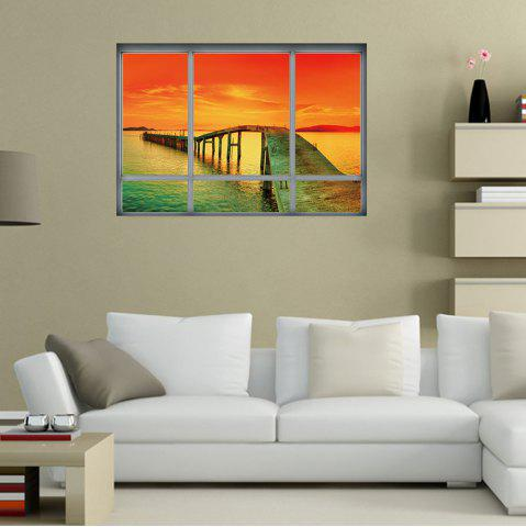 Home Decor Ocean Sunset 3D Autocollant mural en vinyle