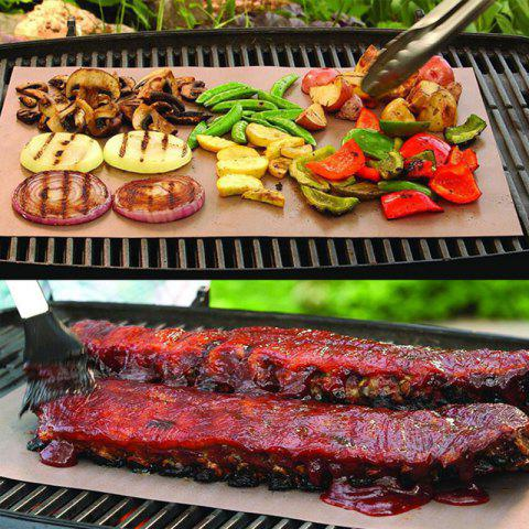 Sale Outdoor Camping Hiking Barbeque Copper Grill Mat COPPER COLOR 33CM*40CM*0.2MM