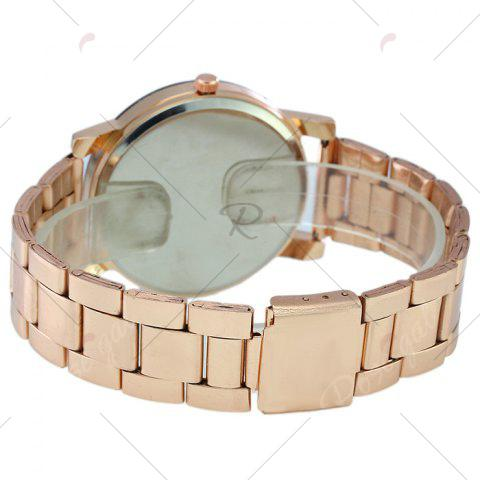 Outfit Rhinestone Steel Strap Analog Quartz Watch - ROSE GOLD  Mobile