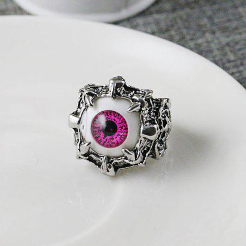 Affordable Stainless Steel Devil Eye Shaped Ring RED 8